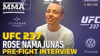 UFC 237: Rose Namajunas Explains Emotional Reaction At Open Workouts - MMA Fighting