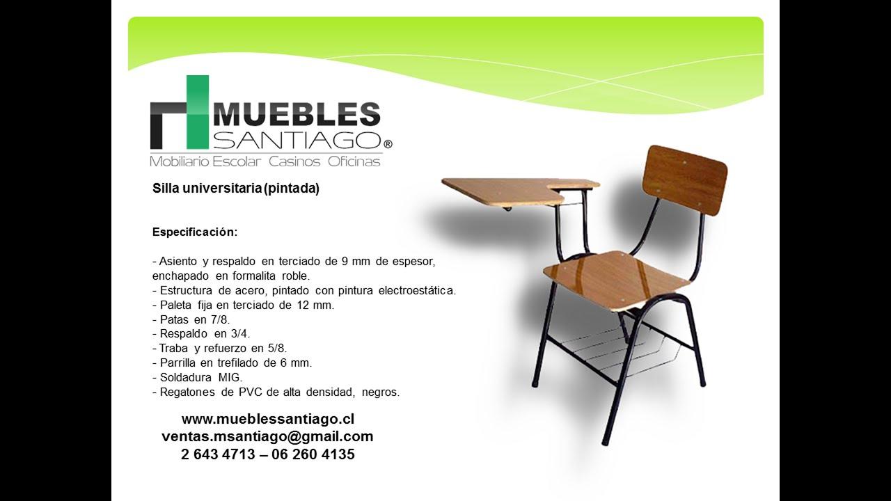 Silla universitaria pintada sillas de colegio muebles for Sillas para que coman los bebes