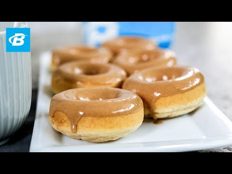Healthy Peanut Butter Glazed Protein Donuts | Quick Recipes