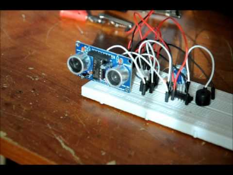 An Ultrasonic Motion Detector Security Circuit No Software