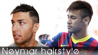 Neymar Footballer men's hair tutorial  2013 - By Vilain Silverfox high hold