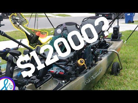 $12,000 Fishing Kayak |  Totally Rigged Titan Propel 13.5
