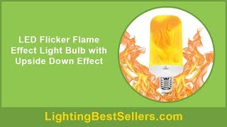 led flicker flame effect light bulb with upside do
