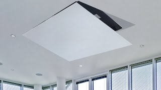 Tv ceiling lift hinge, hidden tv - Flip 100 - test in Valencia