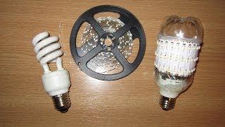 Светодиодная лампочка своими руками. LED Lamp from old fluorescent bulb(Светодиодная лампочка своими руками. Как сделать светодиодную лампочку своими руками. How to make an LED bulb. Светод..., 2014-02-13T08:55:33.000Z)