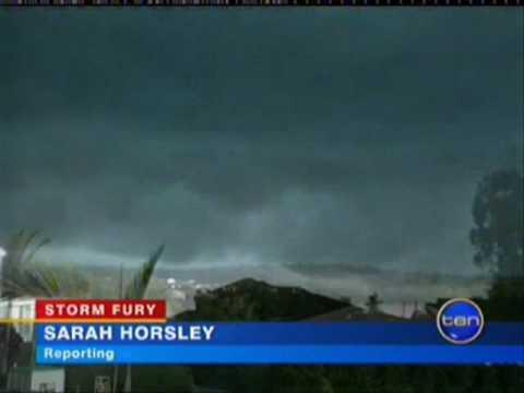 Brisbane's Wild Storms - 16 Nov, 2008 - News Footage
