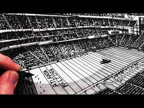 Как рисовать стадион