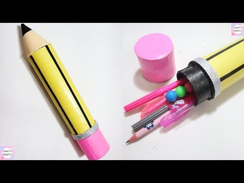 DIY Pencil Case | Back to School Craft | Recycled Crafts Ideas/ DIY Pencil Shape Pencil Case