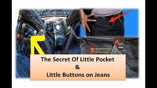 The Secret of Little Pocket & Little Buttons on Jeans! Surprised answer