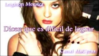 Leighton Meester - Somebody to Love (Traducido al Español)