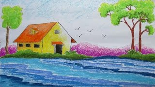 Pastel Drawing | How to Draw a Scenery