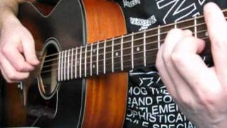Там, где клен шумит на гитаре(Ноты и табы для гитары здесь: http://muzachos.com/noty Этот ролик для тех, кто хочет сыграть песню