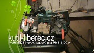 Lidl  kovová pásová pila Parkside PMB 1100 A1 IRON/METAL vertical band saw machine