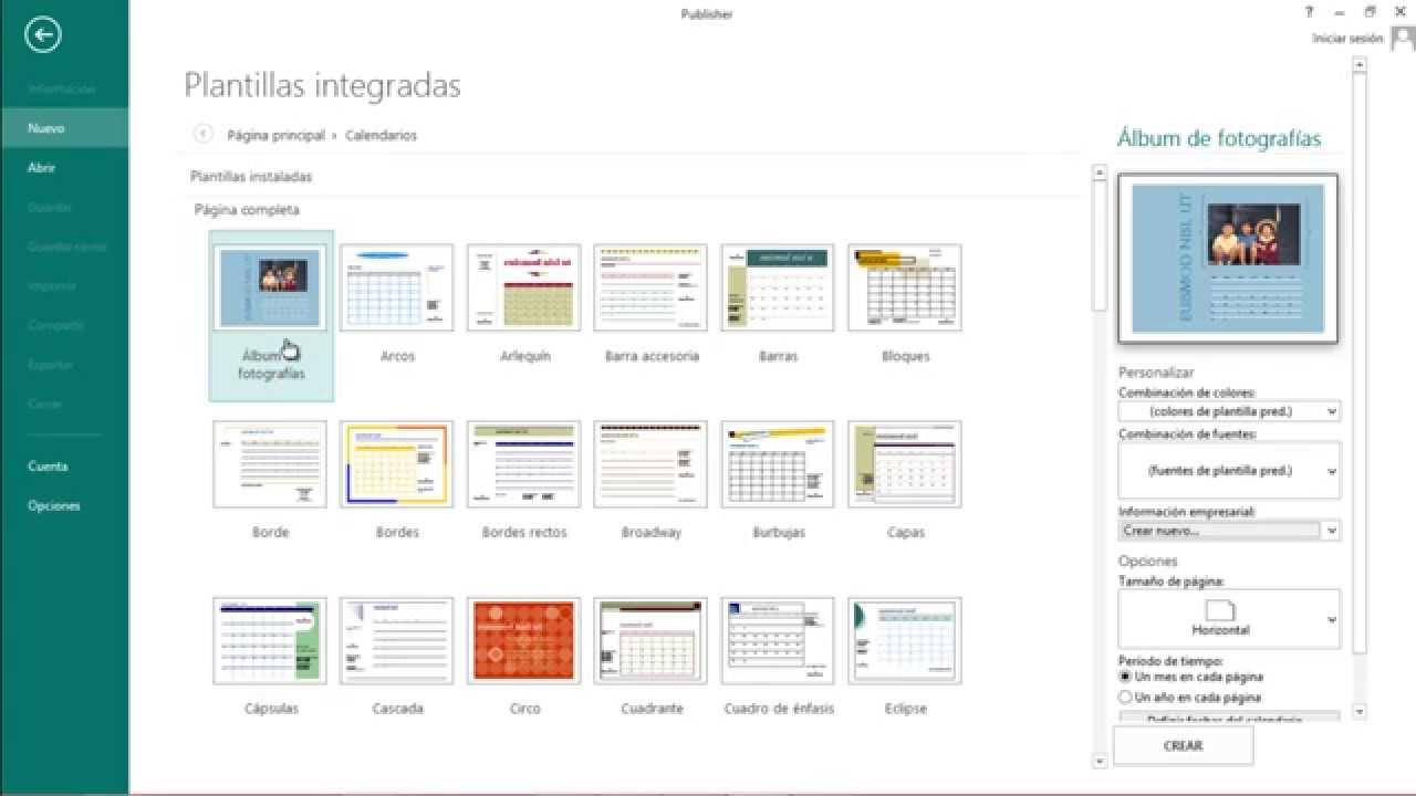 Como crear un calendario perzonalizado con publisher 2013 - YouTube