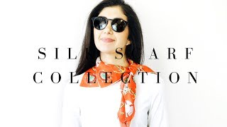 My Silk Scarf Collection - Hermes, Vintage, Chanel, Tiffany + More!