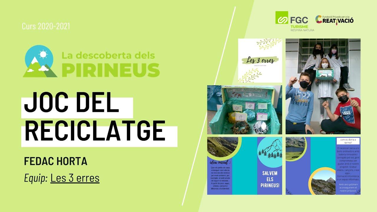 """""""Joc Del Reciclatge"""" - FEDAC Horta"""