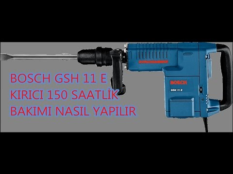 Bosch GSH 11 E 150 Saatlik Bakım Nasıl Yapılır - Bosch GSH 11E Disassembly