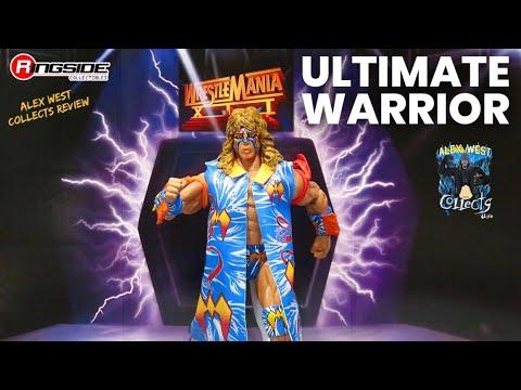 WWE Mattel Ringside Exclusive Elite Wrestlemania 12 Ultimate Warrior Figure Review!