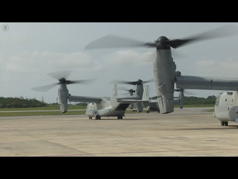 First Wave of U.S. Marine Corps Aircraft Land in Nepal