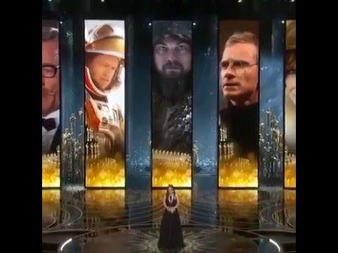 Leonardo DiCaprio won the Oscar for Best Picture-compilation 2016