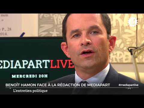 Benoît Hamon face à la rédaction de Mediapart