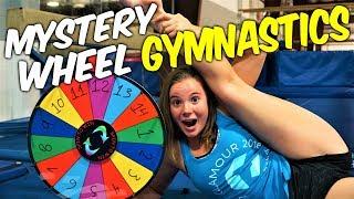 Mystery Wheel Gymnastics Challenge|Rachel Marie