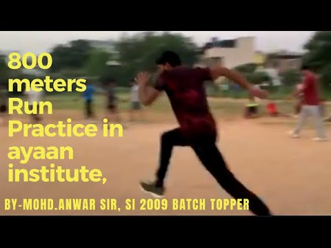 800 mtrs TS police Run Practice by Anwar institute
