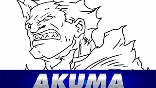 Speed drawing AKUMA - Street Fighter - How to draw