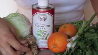 La Tourangelle Toasted Sesame Oil Asian Style Cole Slaw