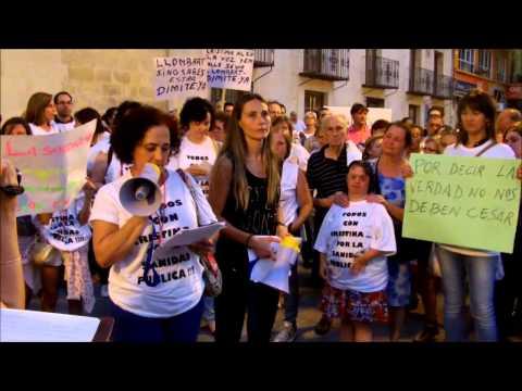 Manifestación en apoyo a Cristina Martínez