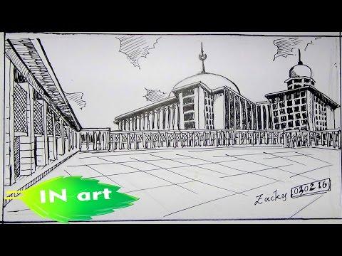 Menggambar Masjid Istiqlal Youtube