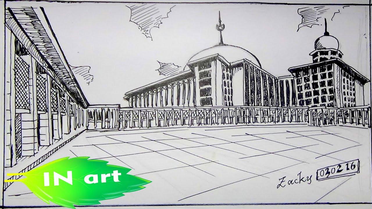 Drawing Istiqlal Masjid
