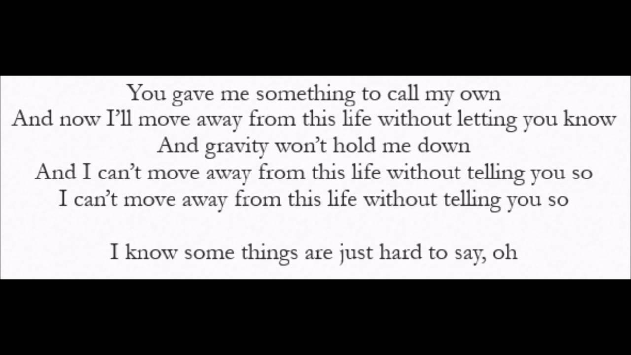 Saskia Hampele - Letting You Know (Lyrics) - YouTube