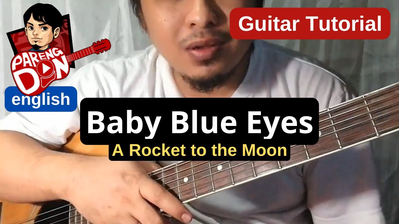 Baby blue eyes (a rocket to the moon) easy strum guitar lesson how.