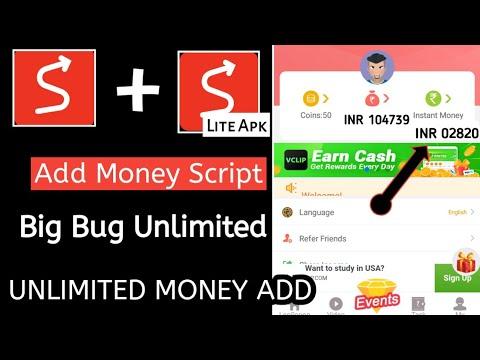 Big Bug Add Money Script Lopscoop App Add Money Script Live Proof