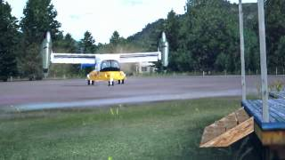 V-22 Osprey take off from the garden of my home in the FSX