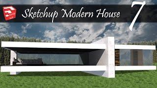 Video SketchUp Modern House 7  - Speedbuild Inpiration - Design + Render download MP3, 3GP, MP4, WEBM, AVI, FLV Desember 2017