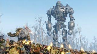 liberty prime bos army vs behemoths super mutants fallout 4 npc war