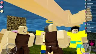 Meeting DeVince!!!! Giving Us Stuff| Roblox Booga Booga| Read The Description|