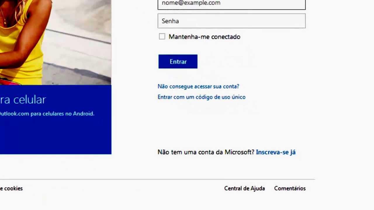 como criar email hotmail - photo #12