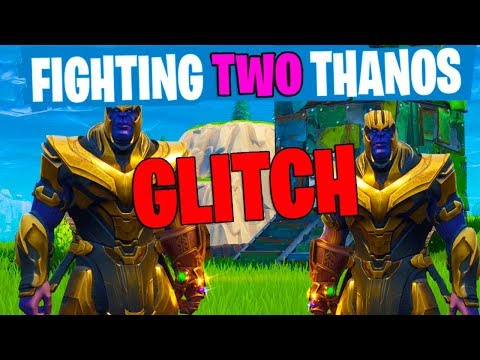 FIGHTING TWO THANOS GLITCH! *NEW FORTNITE MARVEL UPDATE!*