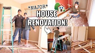 Download lagu BIG CHANGES ARE HAPPENING!!🏠 | MAJOR HOUSE RENOVATION OF OUR ARIZONA FIXER UPPER Episode 2