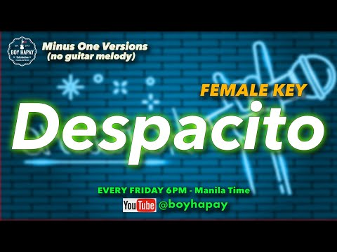 Luis Fonsi: Despacito - Female Version  (Acoustic Guitar Minus One)  Cover W/ Lyrics Best