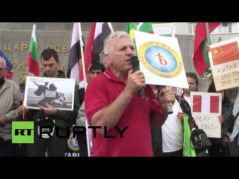 Bulgaria: Peace activists rally to support Russia