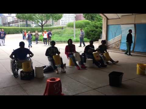 Bucket drummers at soldier field