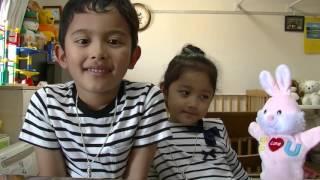 My Son&Daughter Try to Japanese Children Song Donguru koro koro 5...