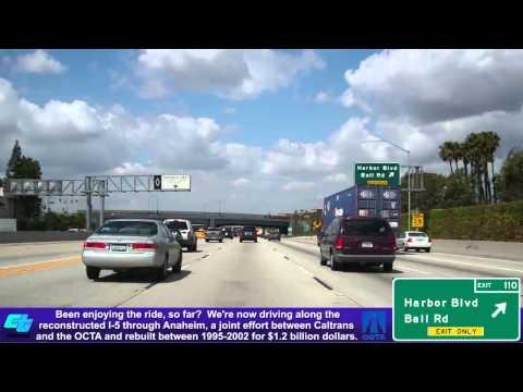 I-5 North (CA), Orange County Central & North, Mile 101-117