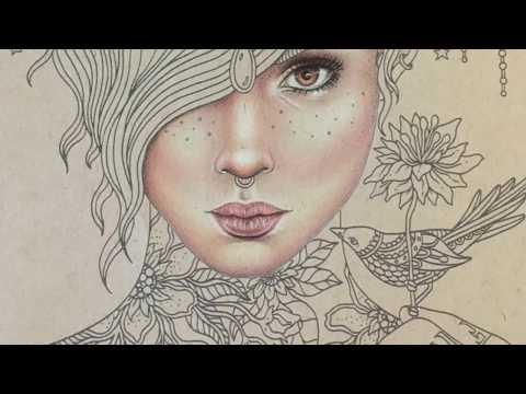 Tattoo girl - Part 1: Skin Colouring | Sommarnatt Colouring Book