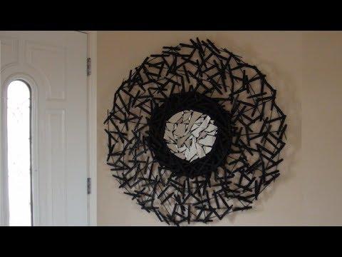 DIY: Broken Mirror Wall Art Decor made of Upcycled Plastic Spoon Handles