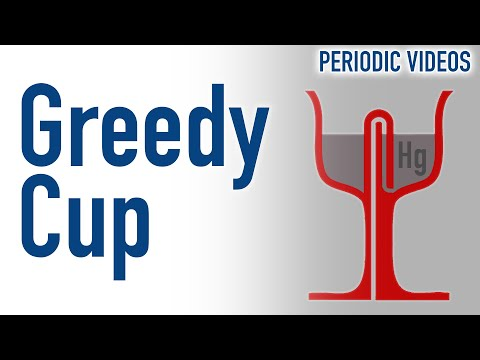 Pythagoras Cup (Greedy Cup) filled with Mercury
